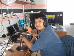 Arturo broadcasting the Good News on Radio Zapoteca