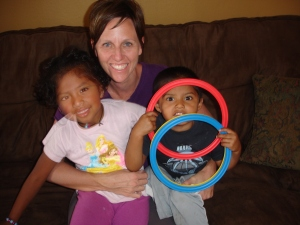 Jill with her children, Salina and Nathan