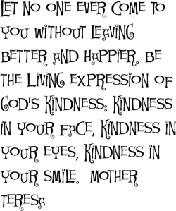 kindness mother teresa
