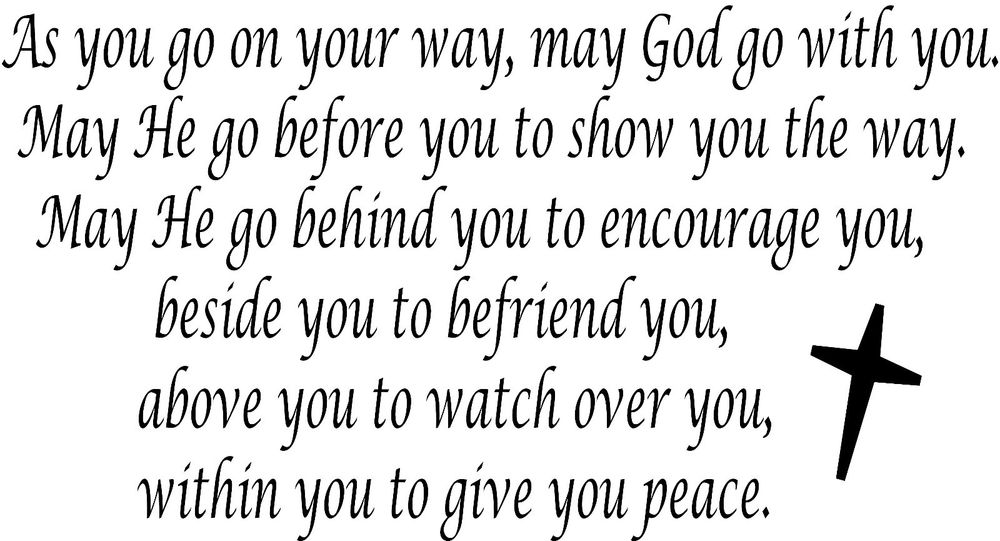 may god go with you
